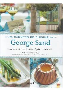 couverture les carnets de cuisine de George Sand